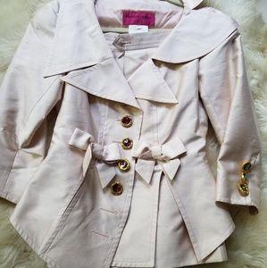 Vintage 90s christian lacroix suit skirt set